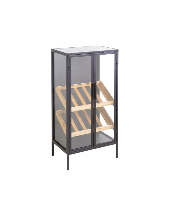 Bottle rack cabinet BLACK