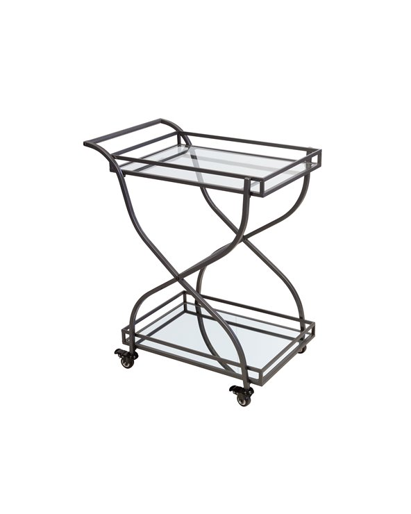Industrial waitress trolley with wheels