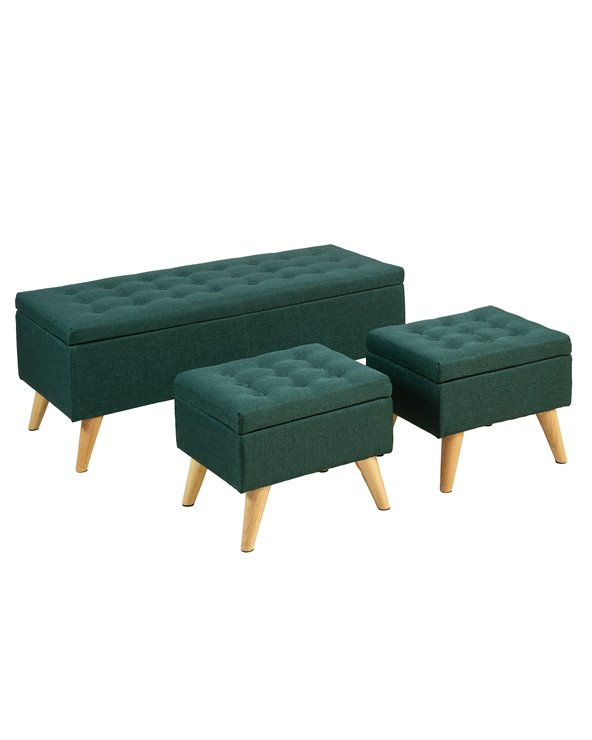 Set 3 storage bench seat