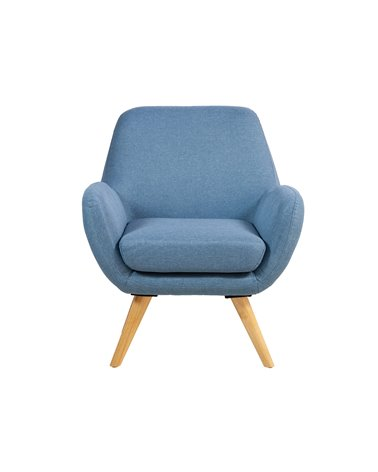 Blue velvet armchair