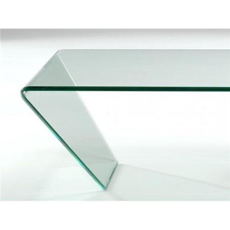Taula de centre cristall corbat Dainan 115 cm