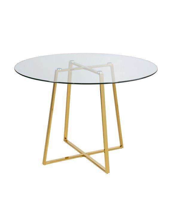 Daisy ronde glazen tafel