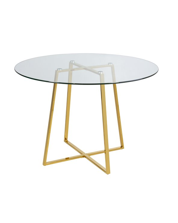 Daisy round glass table