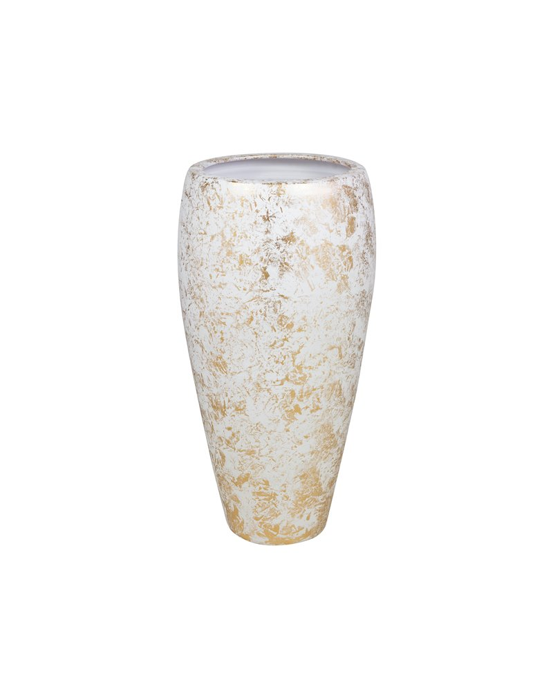 Vaso branco ouro