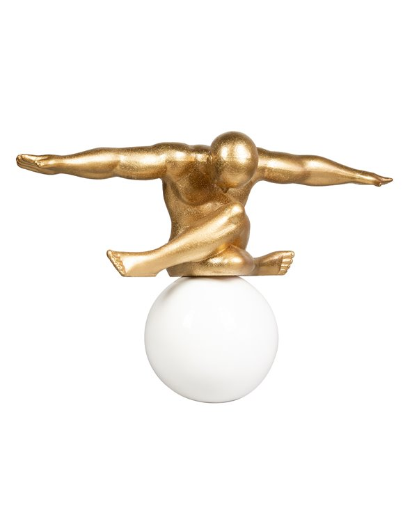 Big gold ball figurine