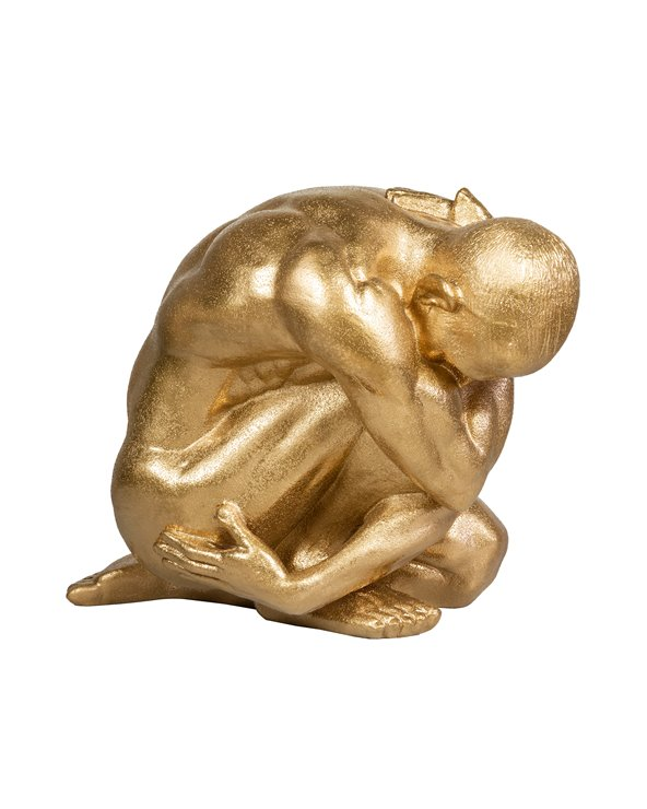 Gouden denker figuur
