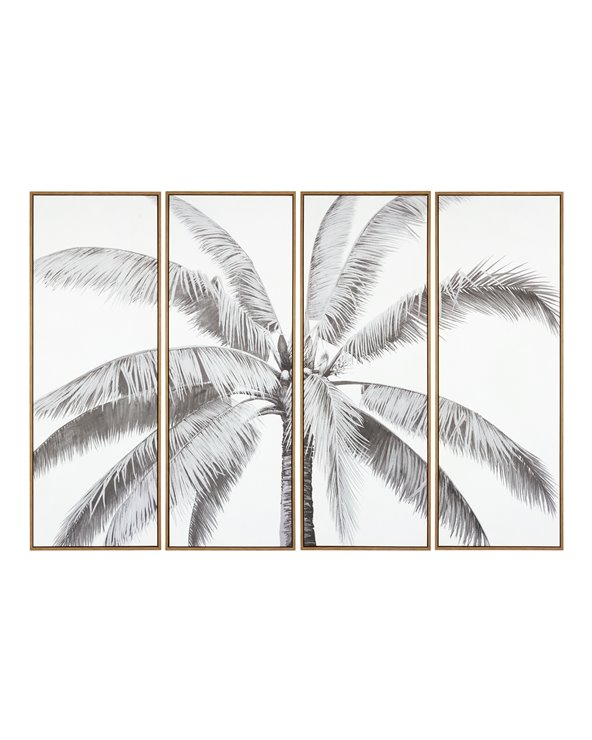 Set 4 cadros palmeira