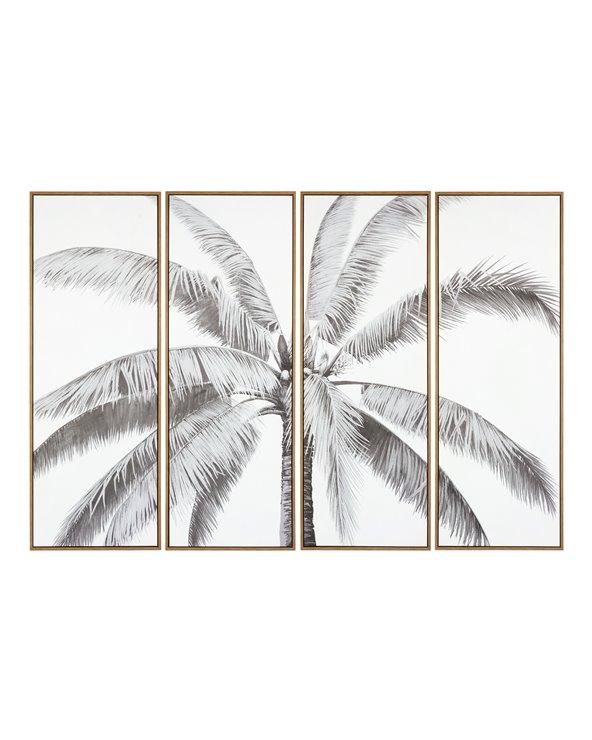 Set van 4 palmboomschilderijen