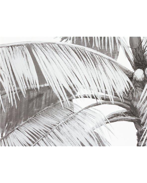 Set 4 palm tree paintings