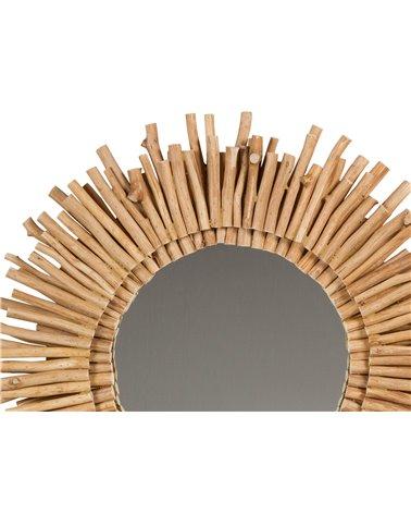 Espejo redondo troncos