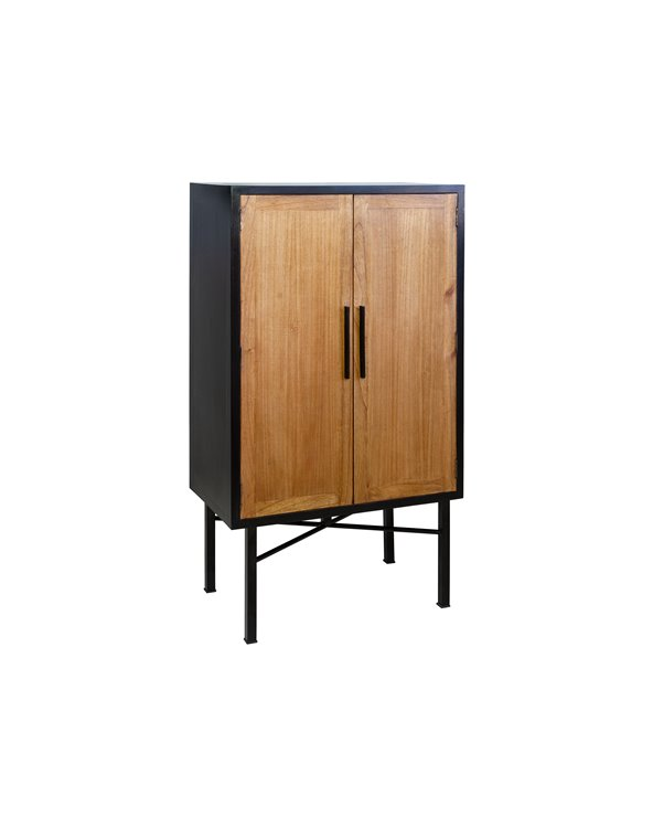 Hoge dressoir met 2 deuren CHESS