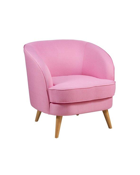 Roze fauteuil BAG