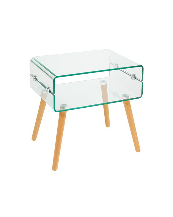Glass side table BEACH