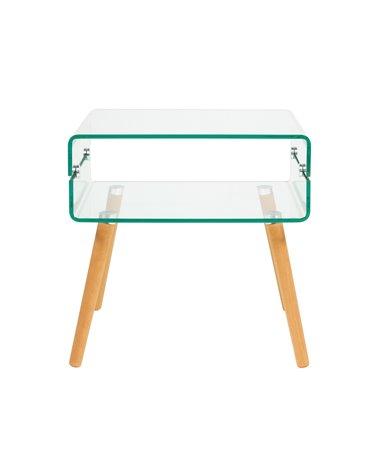 Glass side table BEACH