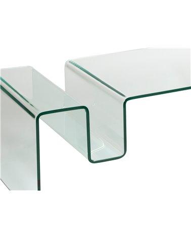 Taula centre de cristall amb revister