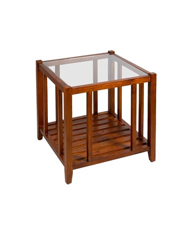 Coffee table with glass
