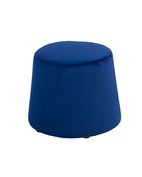 Brown velvet pouf