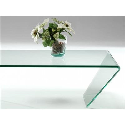 Curved glass coffee table Dainan 115 cm