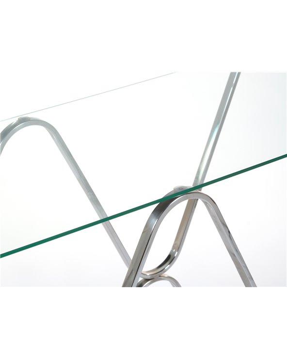 Mueble recibidor / Consola plateado