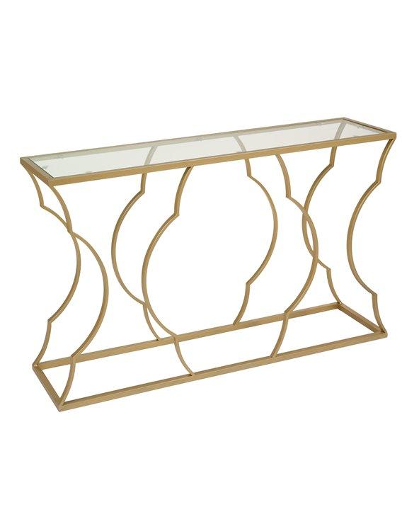 Mueble recibidor / Consola dorado