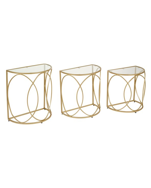 Set of 3 golden tables