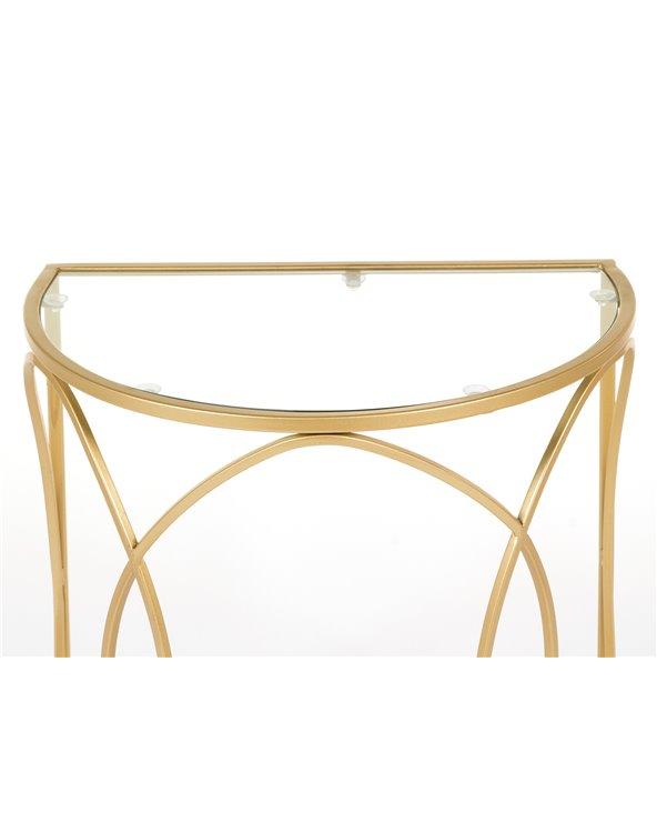 Set de 3 tables dorées