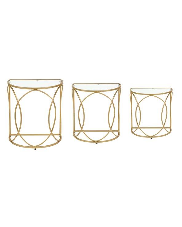 Conjunt de 3 Tauletas daurades