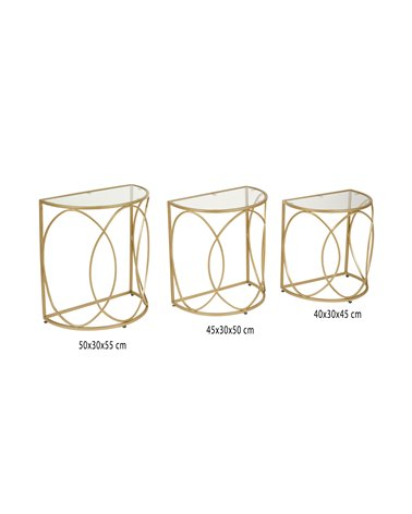 Set of 3 golden tables