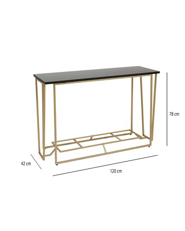 Moble rebedor / Consola daurat