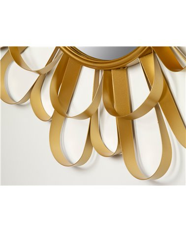 Espejo redondo dorado 90 cm