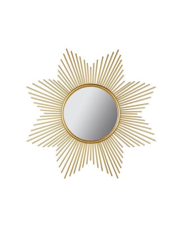 Espello redondo dourado 90 cm