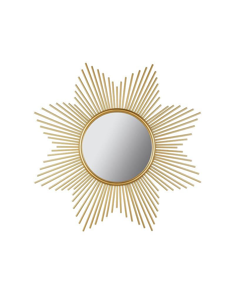 Round gold mirror 90 cm
