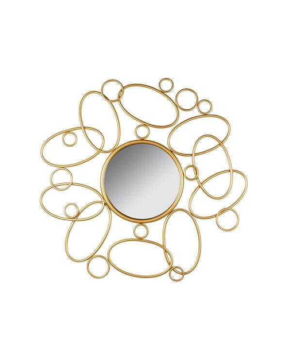 Round gold mirror 80 cm