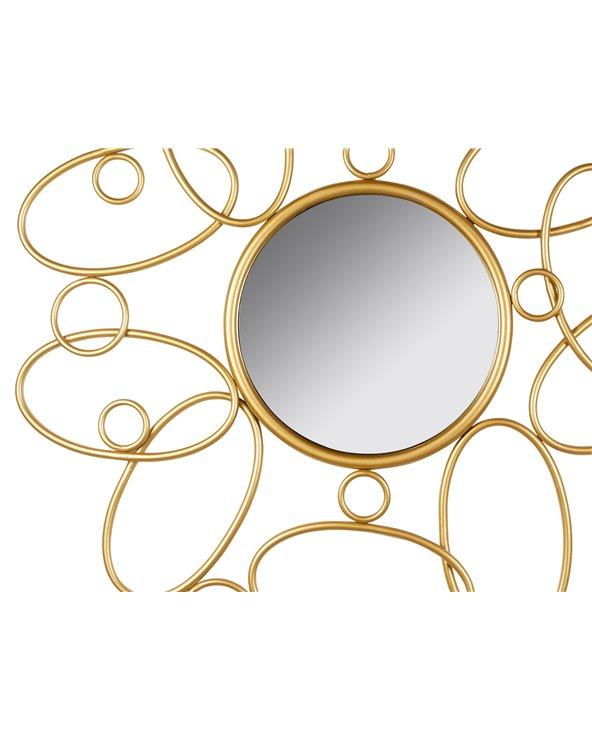 Espejo redondo dorado 80 cm