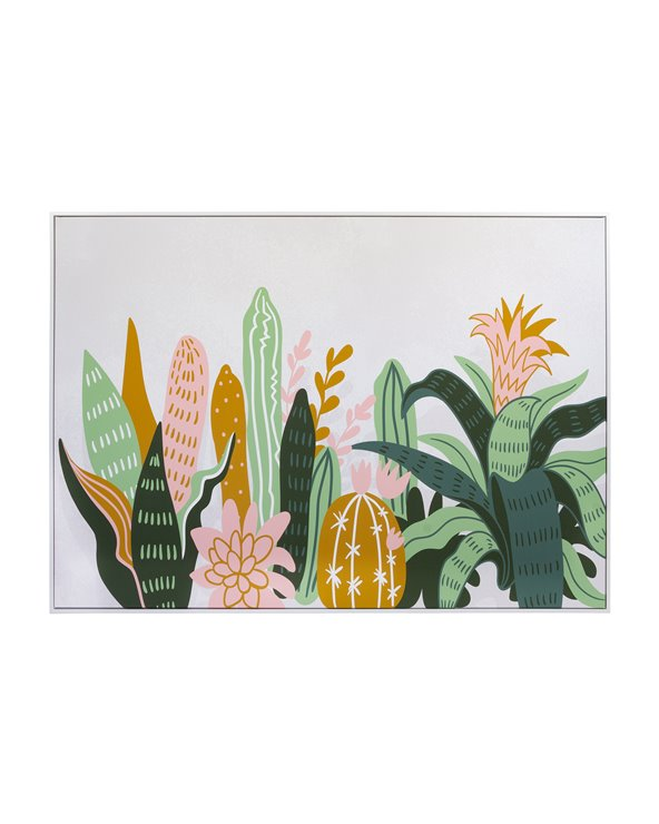 Cactus planten schilderij