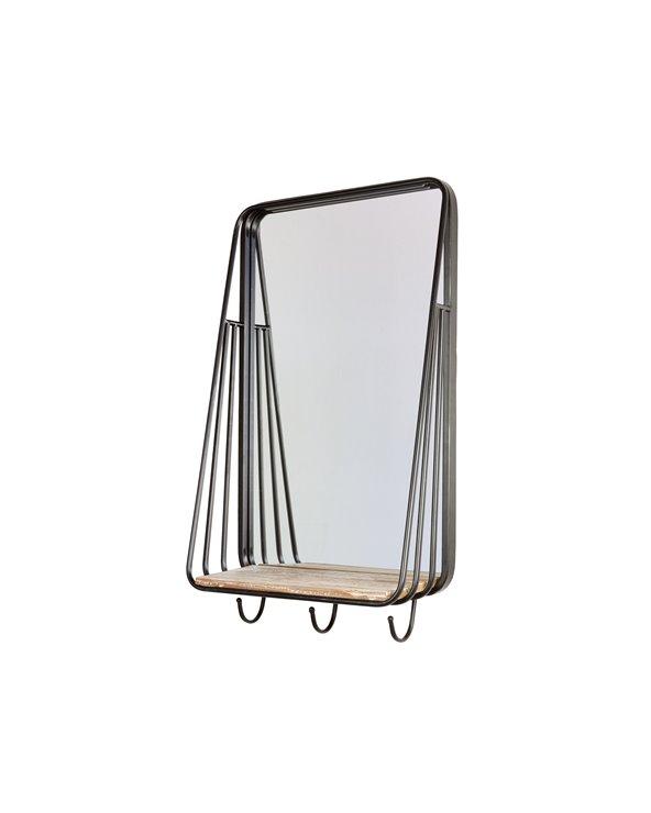 Miroir porte-manteau industriel
