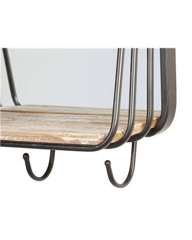 Industrial coat rack mirror