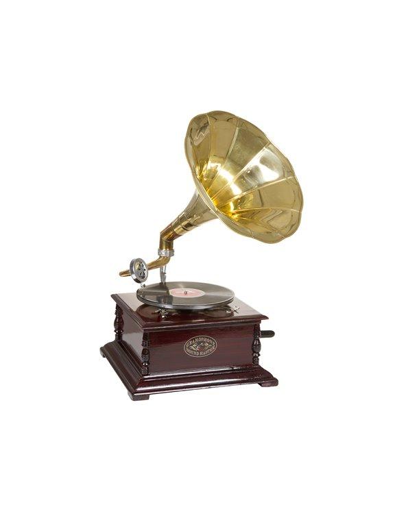 Gramófono cadrado latón