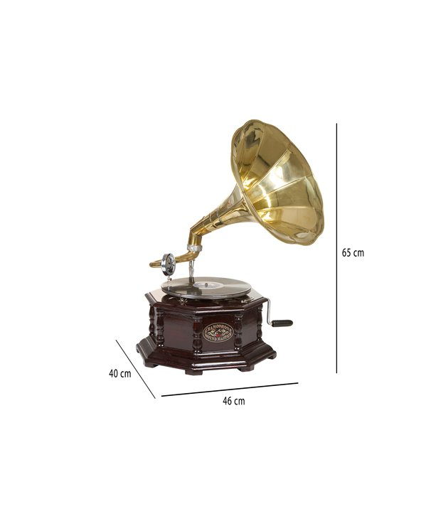Gramòfon octogonal llautó