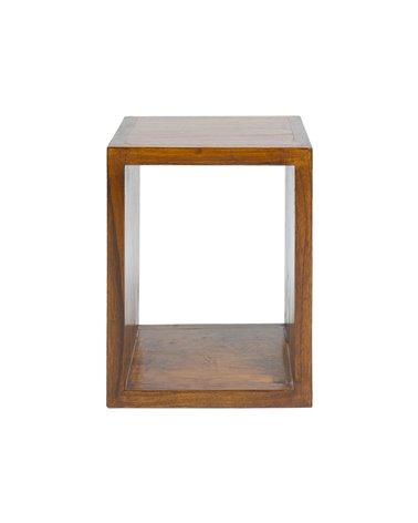 Prestatge quadrat de fusta
