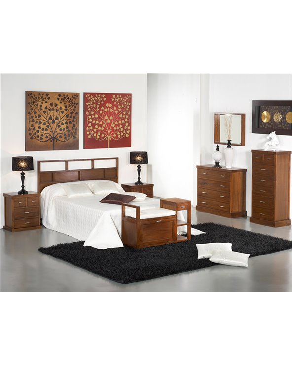Capçal de llit Forest marró
