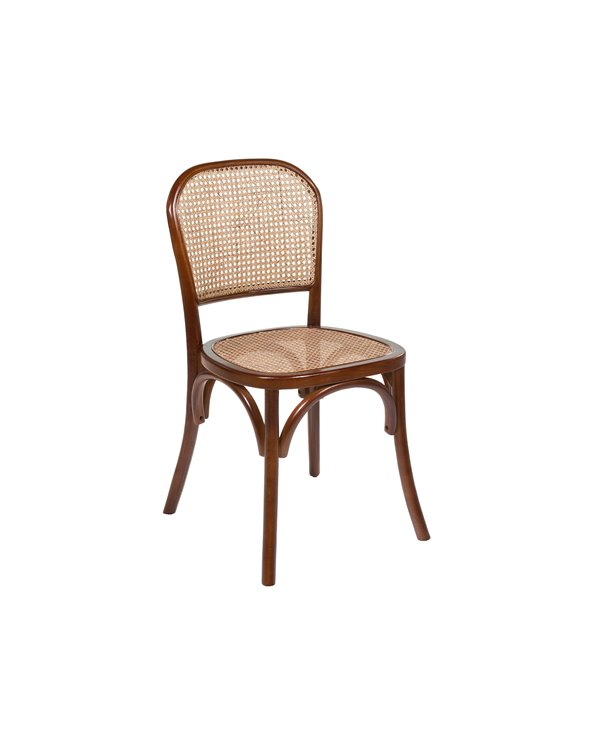 Brown grid chair