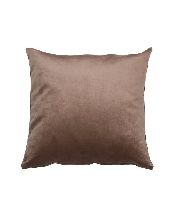Cojín Velvet marrón 45x45 cm
