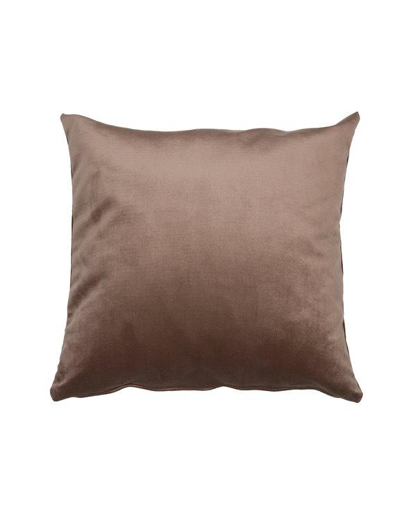 Velvet cushion brown 45x45 cm