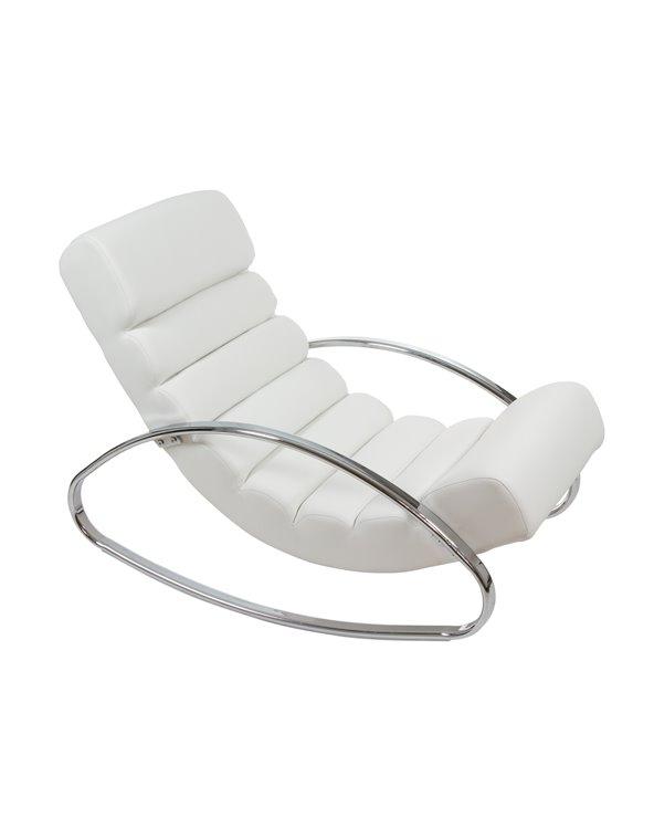 Cadeira de balanço de branco PU (couro sintético)