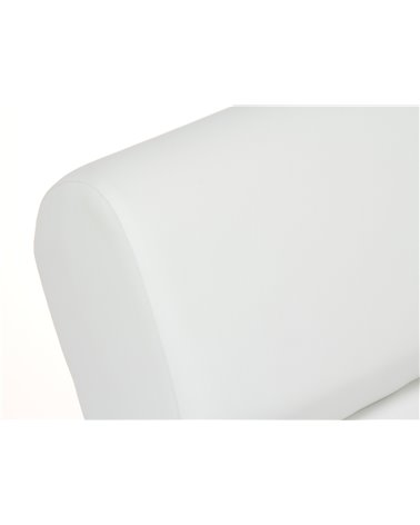 Mecedora polipiel blanca