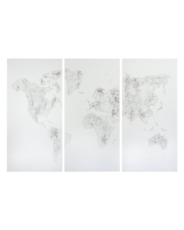 Ställ in 3 oljemålningar Karta