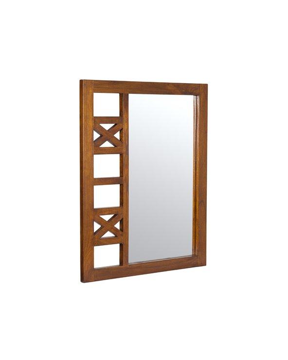 Recibidor rústico con espejo