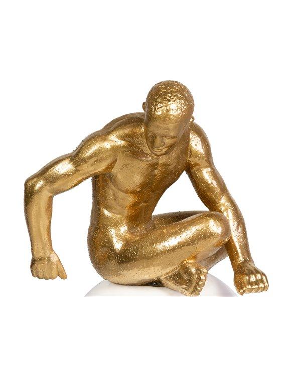 Seated thinker figure