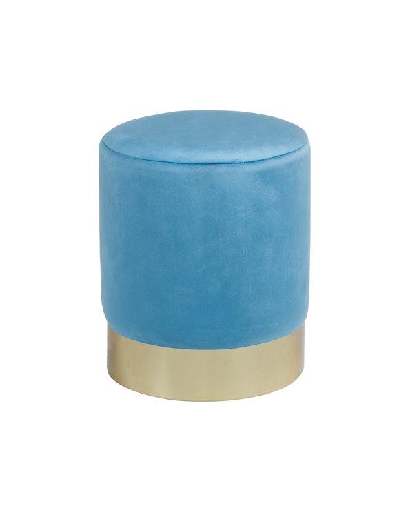Taburete oro azul